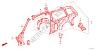 BODY STRUCTURE COMPONENTS (5)(2D) for Honda Cars ACCORD EX 3 Doors 4 speed automatic 1986