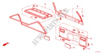 REAR PANEL LINING/ TAILGATE LINING (2D) for Honda Cars ACCORD EX 3 Doors 4 speed automatic 1986