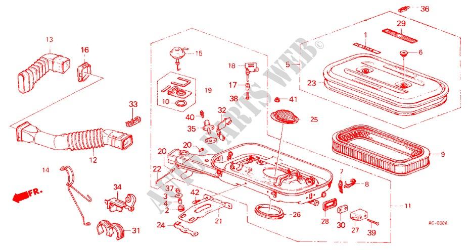 Genuine Honda 17242-PD2-010 Air Intake Pipe
