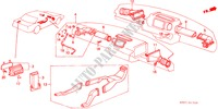 HEATER DUCT ELECTRICAL EQUIPMENTS, EXHAUST, HEATER ACCORD honda-cars 1989 EX-2.0I B__1705