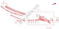 REAR WIPER ELECTRICAL EQUIPMENTS, EXHAUST, HEATER ACCORD honda-cars 1989 EX-2.0I B__1402