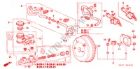 BRAKE MASTER CYLINDER/ MASTER POWER (RH) for Honda Cars ACCORD 2.2 EXECUTIVE 4 Doors 5 speed manual 2005