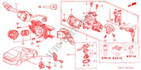 COMBINATION SWITCH (RH) for Honda Cars ACCORD 2.2 EXECUTIVE 4 Doors 5 speed manual 2005