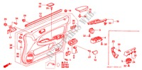 FRONT DOOR LINING (RH) for Honda Cars ACCORD 2.2 EXECUTIVE 4 Doors 5 speed manual 2005
