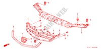 FRONT GRILLE (1) for Honda Cars ACCORD 2.2 EXECUTIVE 4 Doors 5 speed manual 2005