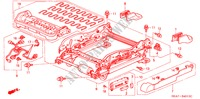 FRONT SEAT COMPONENTS (L.)(4WAY POWER SEAT) for Honda Cars ACCORD 2.2 EXECUTIVE 4 Doors 5 speed manual 2005