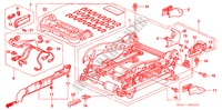 FRONT SEAT COMPONENTS (R.)(FULL POWER SEAT) for Honda Cars ACCORD 2.2 EXECUTIVE 4 Doors 5 speed manual 2005