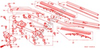 FRONT WINDSHIELD WIPER (RH) for Honda Cars ACCORD 2.2 EXECUTIVE 4 Doors 5 speed manual 2005