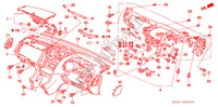 INSTRUMENT PANEL (RH) for Honda Cars ACCORD 2.2 EXECUTIVE 4 Doors 5 speed manual 2005
