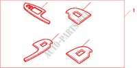 INT PANEL*NH500L* for Honda Cars ACCORD 2.2 EXECUTIVE 4 Doors 5 speed manual 2005