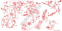 PEDAL (RH) for Honda Cars ACCORD 2.2 EXECUTIVE 4 Doors 5 speed manual 2005