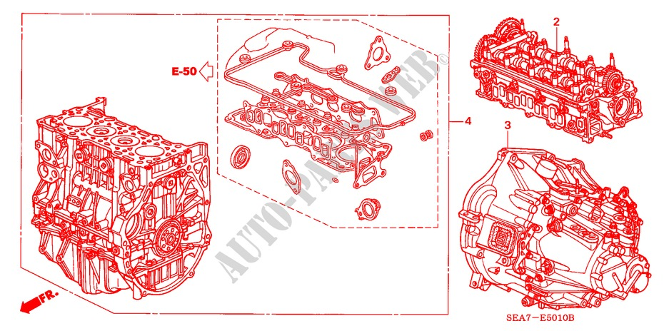 ENGINE ASSY./TRANSMISSION  ASSY. (DIESEL) for Honda Cars ACCORD 2.2 EXECUTIVE 4 Doors 5 speed manual 2005