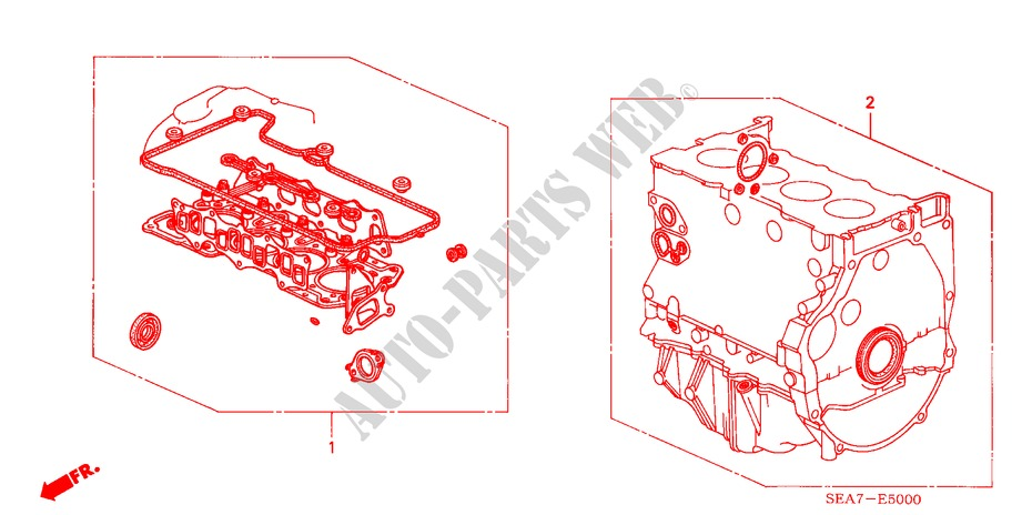 GASKET KIT (DIESEL) for Honda Cars ACCORD 2.2 SPORT 4 Doors 5 speed manual 2004