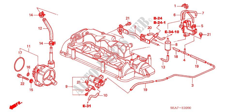 honda cars accord 2005 2 2 sport 5 speed manual engine install pipe/vacuum  pump (