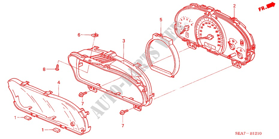 METER COMPONENTS (NS) for Honda Cars ACCORD 2 0 EXECUTIVE 4