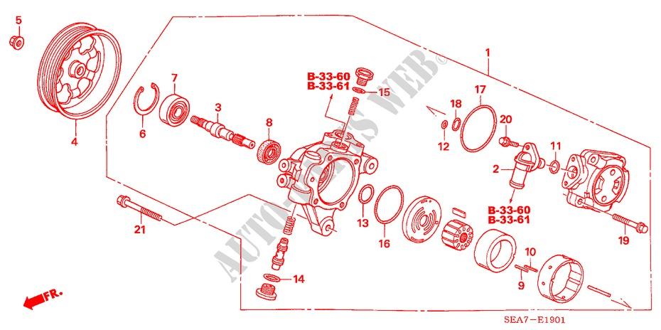 Power Steering Pump Drive Shaft 56141-PNC-003 Genuine Honda
