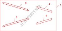 BODY SIDE TRIMS for Honda Cars ACCORD TOURER 2.4 EXECUTIVE 5 Doors 6 speed manual 2003