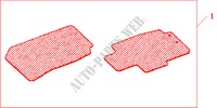 FRONT RUBBER MATS for Honda Cars ACCORD TOURER 2.0 SPORT 5 Doors 5 speed automatic 2003