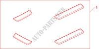SIDE STEP*NH167L* for Honda Cars ACCORD TOURER 2.4 EXECUTIVE 5 Doors 6 speed manual 2003