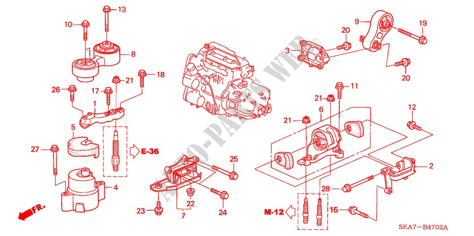 ENGINE-MOUNTS-DIESEL-Honda-Cars-ACCORD-TOURER-2004-22-EXECUTIVE-5-speed-manual-B__4702 2004 Honda Accord Engine Parts Diagram