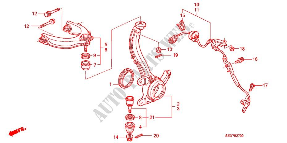 FRONT KNUCKLE UPPER ARM STEERING BRAKE SUSPENSION 20 EXECUTIVE 2003 ...
