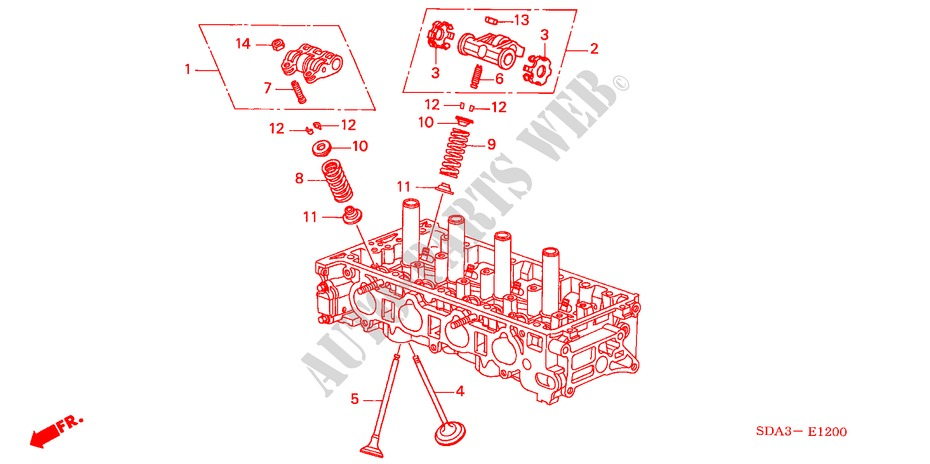 VALVE/ROCKER ARM (2.0L) for Honda Cars ACCORD TOURER 2.0 SPORT 5 Doors 5 speed automatic 2003