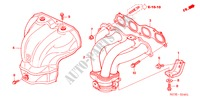 EXHAUST MANIFOLD(2.4L) for Honda Cars ACCORD TOURER 2.4 EXECUTIVE 5 Doors 6 speed manual 2007