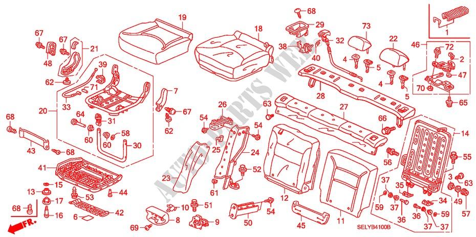 Honda Genuine 81144-SM4-J01ZC Headrest Lock Guide