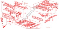 BODY STRUCTURE COMPONENTS (2) for Honda Cars PRELUDE EX 2 Doors 5 speed manual 1985