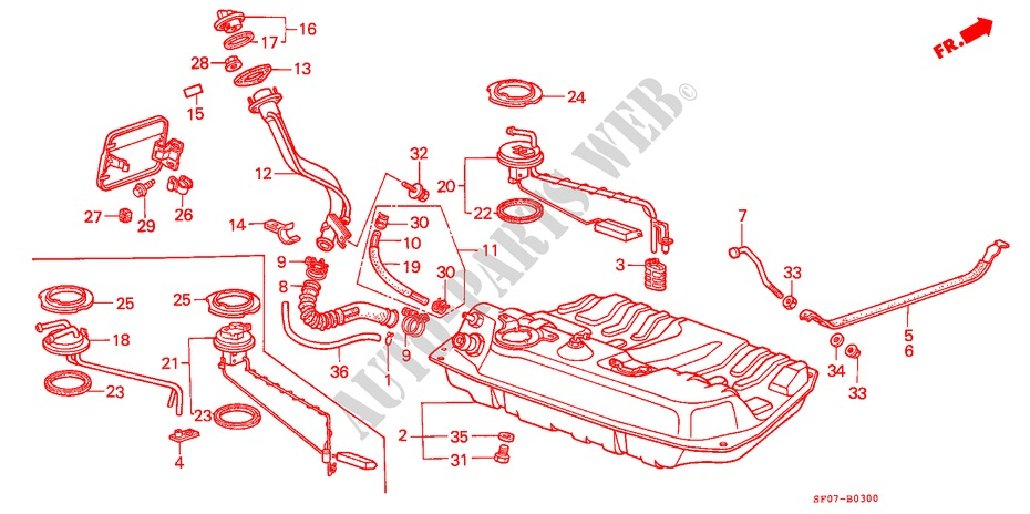 Genuine Honda 17725-SF0-930 Breather Tube Insulator