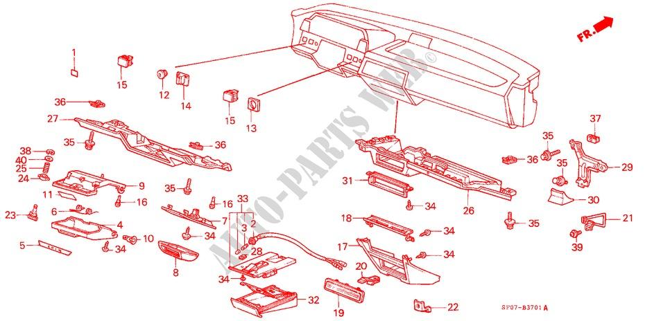 Honda Genuine 88011-SB0-020 Ashtray Holder Set