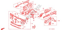BODY STRUCTURE COMPONENTS (1) for Honda Cars PRELUDE 2.0I-16 2 Doors 5 speed manual 1989