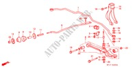 FRONT STABILIZER/ FRONT LOWER ARM STEERING, BRAKE, SUSPENSION PRELUDE honda-cars 1990 2.0I-16 4WS B__2900