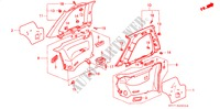 SIDE LINING for Honda Cars PRELUDE 2.0I-16 2 Doors 5 speed manual 1989