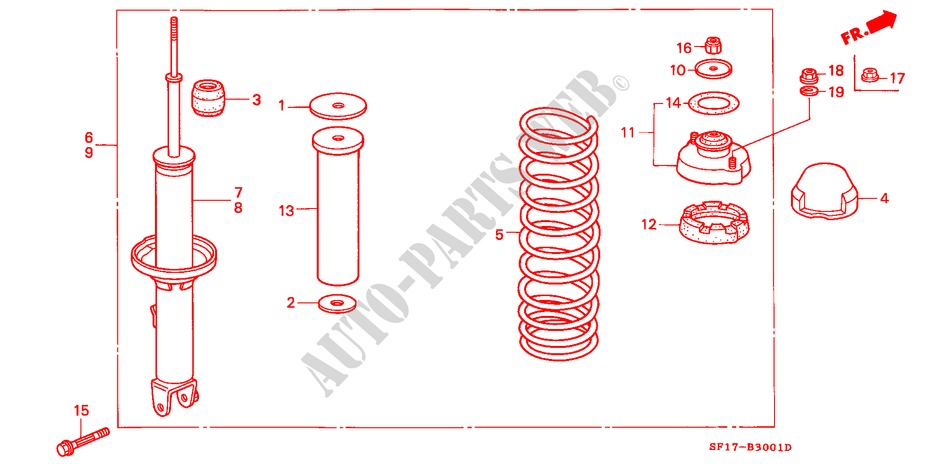 Moog RK641496 Control Arm and Ball Joint Assembly Federal Mogul