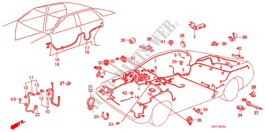 WIRE HARNESS/ BATTERY CABLE for Honda Cars BALLADE EX 4 ... on