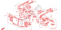 BODY STRUCTURE COMPONENTS (FRONT BULKHEAD) for Honda Cars CIVIC CRX 1.6I-16 3 Doors 5 speed manual 1990