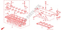 CYLINDER HEAD (DOHC) for Honda Cars CIVIC CRX 1.6I-16 3 Doors 5 speed manual 1990