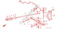 FRONT STABILIZER/ FRONT LOWER ARM (1) for Honda Cars CIVIC CRX 1.6I-16 3 Doors 5 speed manual 1990