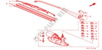 REAR WIPER for Honda Cars CIVIC CRX 1.6I-16 3 Doors 5 speed manual 1990