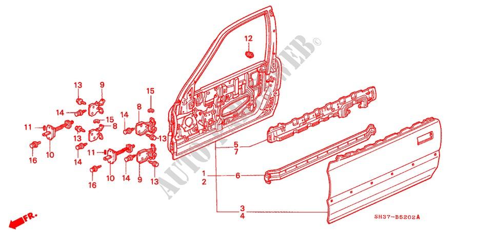 Door Panels For Honda Cars Civic Gl 3 Doors 5 Sd Manual