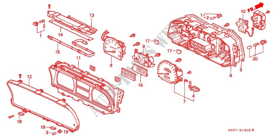 BULB (14V 1.4W) (DENSO) Honda Civic Sdometer Wiring Diagram on