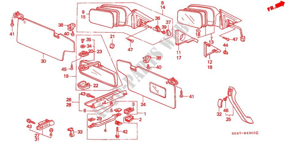 Honda Genuine 83242-SH3-000 Sunroof Grab Rail Bracket