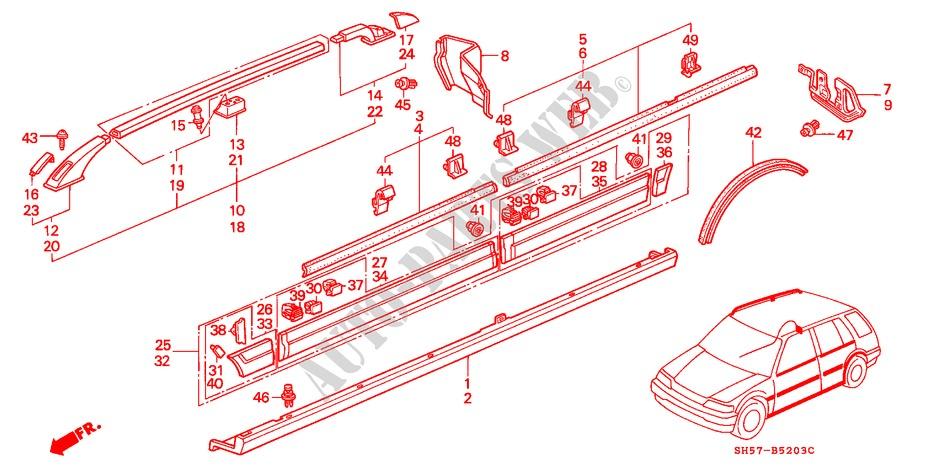 Honda Genuine 75324-SH4-J00 Fender Protector