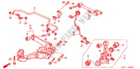 REAR LOWER ARM STEERING, BRAKE, SUSPENSION FR-V honda-cars 2008 2.2 COMFORT B__2900