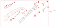TAILGATE SPOILER PRIMER for Honda Cars FR-V 1.8 SE 5 Doors 5 speed automatic 2007