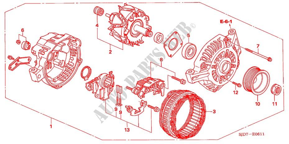 alternator mitsubishi 20l engine 20 se 2005 fr v honda cars honda rh parts honda uk Mitsubishi Alternator Cross Reference Heavy Duty Mitsubishi Alternators