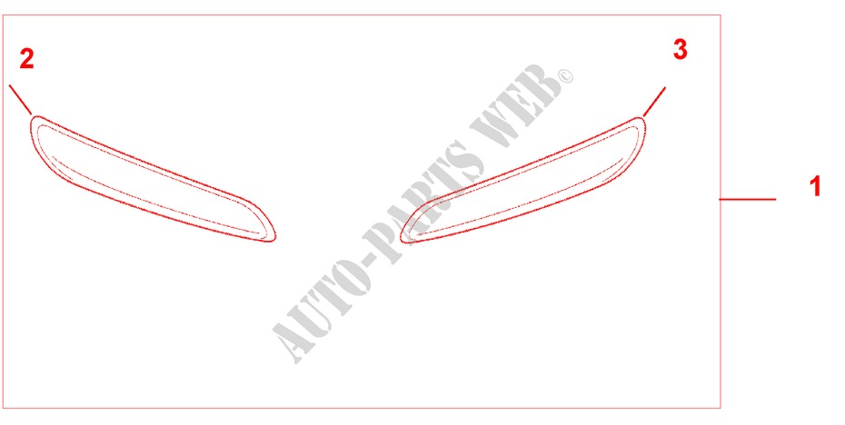FRONT BUMPER TRIM for Honda Cars FR-V 1.8 SE 5 Doors 5 speed automatic 2007