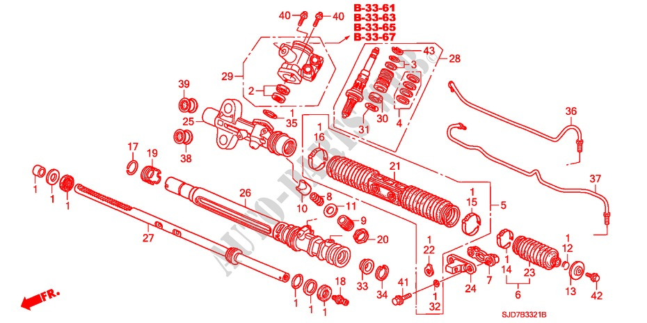 P.S. GEAR BOX COMPONENTS (HPS) (RH) for Honda Cars FR-V 1.8 SE 5 Doors 5 speed automatic 2007