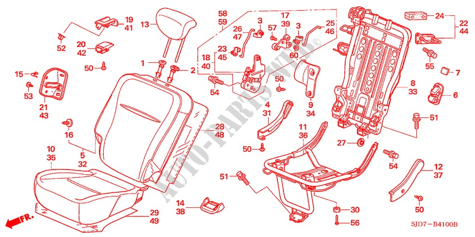 REAR SEAT (R./L.) for Honda Cars FR-V 1.8 SE 5 Doors 5 speed automatic 2007